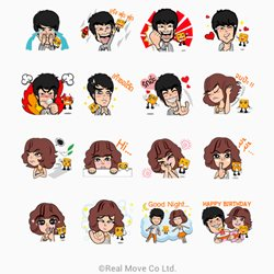 line sticker truemove